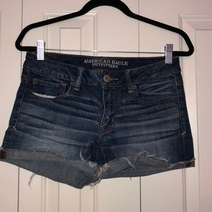 American Eagle roll up shorts, size 6
